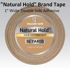 """Natural Hold Tape by Walker Tape Co. 1"""" X 36 yard roll Double side Adhesive"""