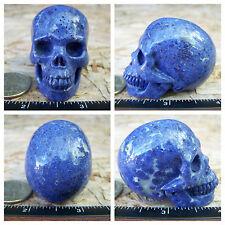 "2.08"" Dumortierite Skull 105.6g Crystal Healing Large Realistic 3.7oz Christmas"