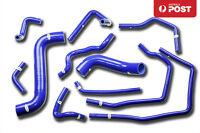 FOR SUBARU IMPREZA WRX/STI GDA/GDB EJ207 02-07 SILICONE RADIATOR HOSE KIT BLUE