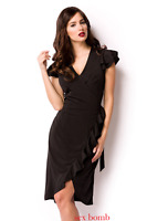 Sexy ABITO NERO taglia S,M,L (40,42,44) vestito donna elegante GLAMOUR chic