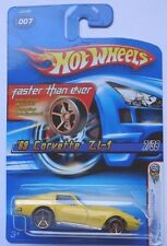 2005 Hot Wheels First Edition '69 Corvette ZL-1 7/38 (Yellow) (FTE Hub Wheels)