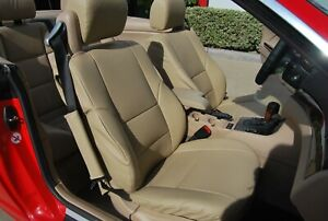 BMW 325CI CONVERTIBLE 2000-2005 VINYL CUSTOM 2 FRONT SEAT COVERS 13 COLORS