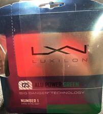 Luxilon - WRZ990220 - L.E. Alu Power 125/16L Tennis Racque String Set - GREEN