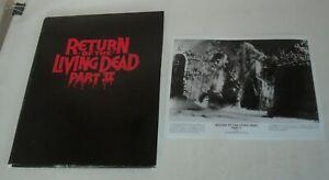 1987 RETURN of the LIVING DEAD PART II PROMO MOVIE PRESS KIT 6 PHOTOS HORROR