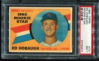 1960 Topps Baseball #131 ED HOBAUGH Chicago White Sox RC ROOKIE PSA 7 NM