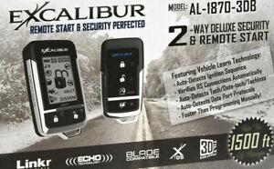 EXCALIBUR AL-1870-3DB LCD 2-Way Vehicle Security & Remote Start Car Alarm system