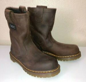 Dr Martens Industrial Pull-On Rigger Work Boots Mens 10 Brown Leather