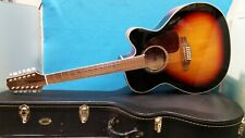 TAKAMINE 12-STRING SEMI-ACOUSTIC GUITAR WITH HARDCASE GJ72CE-12 BSB
