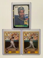 Barry Bonds Rookie Card Lot (3 cards) 1987 Topps #320 & 1987 Donruss #361
