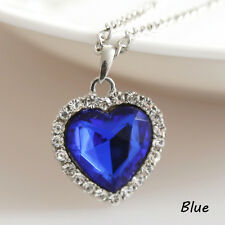 Crystal Full Rhinestones Titanic the Heart of Ocean Necklaces Jewelry