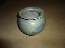 RARE  NETHERLANDS ADRIE MOERINGS  SIGNED   STUDIO POTTERY VASE  MOTTLY GREEN