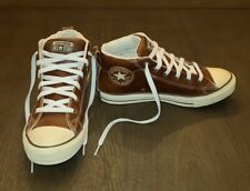 New listing CONVERSE All Star Brown Leather High Tops Mens Size 7 Tennis Shoes