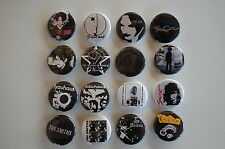 Goth Rock Buttons Pins 1.25 Inch The Cure Bauhaus Siouxsie Smiths Lot of 16(LB5)