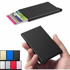 Cool Aluminum Unisex ID Credit Work Card RFID Protector Holder Purse Wallet @xu