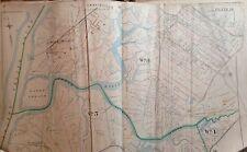 1898 Staten Island Fresh Kills E. Robinson Original Atlas Map 22x32