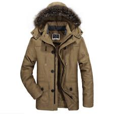HOT Winter Men's Cotton Coat Thicken Warm Hooded Parka Fur Collar Jacket Outwear