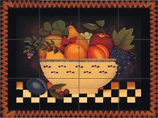 Fruit Bowl Decorative Tile Mural Decorative Back Splash Ceramic Artistic Folk