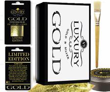 Gold leaf Kit - 20 Gold sheets,  adhesive and brush. Gilding, Art, Design
