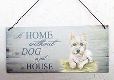 West Highland Terrier, Westie, casa de perro y otras razas disponibles de placa de casa