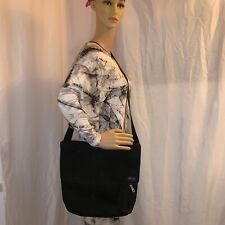 Pre-loved authentic JACK SPADE black cotton canvas CROSSBODY messenger bag $299