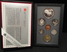 1992 Canada Stagecoach Proof Double Dollar 7 Coin Set - Original Packaging
