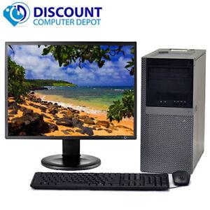 "Dell Optiplex 960 Windows 10 Home Tower Computer 2.93GHz C2D 4GB 250GB 19"" LCD"