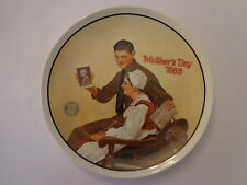 My Mother 13th Norman Rockwell Mother's Day Series 1988 Plate Knowles COA #2413E