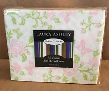 Twin size Sheet Set Laura Ashley Butterfly floral Children's room 200 td pink