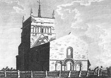 BUCKS. Stewkley Church. Grose 1783 old antique vintage print picture