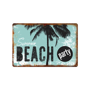 Metal Tin Sign summer beach party Bar Pub Home Vintage Retro Poster