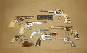 Vintage 50s/60s/70s Toy Cap Gun Pistol Lot   Hubley   Halco   Old Cowboy Western