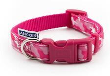 Ancol Indulgence Nylon Adjustable Collar Pink Combat Dog Collar 30-50cm