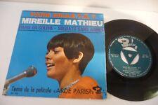 """MIREILLE MATHIEU 45T PARIS BRULE-T-IL? . PRESSAGE ESPAGNE ARDE PARIS. 7"""""""
