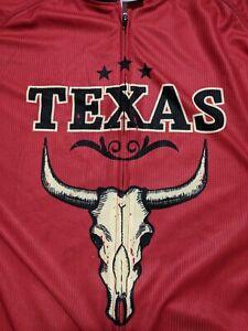 Canari State Of Texas Full Zip Short Sleeve Cycling Jersey Men's XL