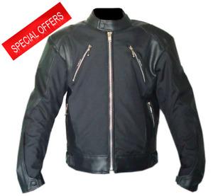 Rksports Atom Motorcycle Motorbike Leather Textile Waterproof Mens Jacket CE
