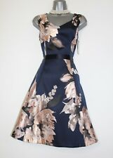 PRECIS Jacquard Metallic Floral Print Fit & Flare Evening Dress UK10  EU38  £149