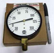 """USG C500 AMETEK 3.5"""" VAC / PRESSURE GAUGE VAC 30-0-150 PSI 1/4 LM STEAMPUNK 5499"""