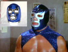 """blue demon"" pro-fit mousse mexicain catch masque [wwe, robe fantaisie, halloween]"