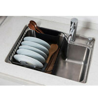 Stainless Steel Dish Drying Rack Drainer Sink Compact Space Saver