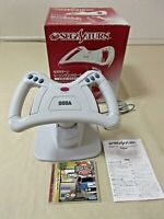 Sega Saturn Racing Controller Wheel tested HSS 0141 boxed + Rally game  Japan