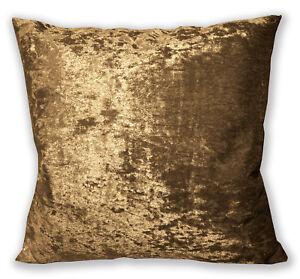 Mv10a Lt.Brown Gold Diamond Crushed Velvet Cushion Cover/Pillow Case Custom Size