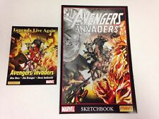 The Avengers Invaders 1 2 3 4 5 6 7 8 9 10 11 12 Sketchbook promo card complete