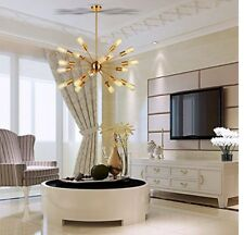 New Sputnik Chandelier Light 17 Lights Brushed Brass Modern Pendant Lighting