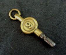 Antique Montre à Gousset Clés Taille 9 Ornemental en Laiton/Acier Winder (h1)