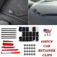 446Pcs Car Retainer Clips Auto Fasteners Push Trim Pin Clip Rivet Bumper Kits US