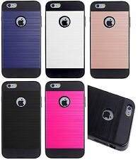 iPhone 6 6S AMZER Metto Dual Layer Hybrid Slim Metal Texture Protector Case