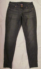TRUE RELIGION SHANNON pewter gray micro cords corduroy skinny stretchy jeans 26