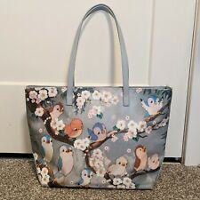 Cath Kidston x Disney Snow White Tote Bag Birds Print Zip Gray Multi
