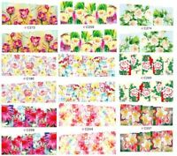 20 sets Nail art water transfer decal sticker wrap C series Flowers C21