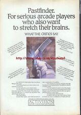 Pastfinder Activision Commodore 64 1985 Vintage Magazine Advert #5254